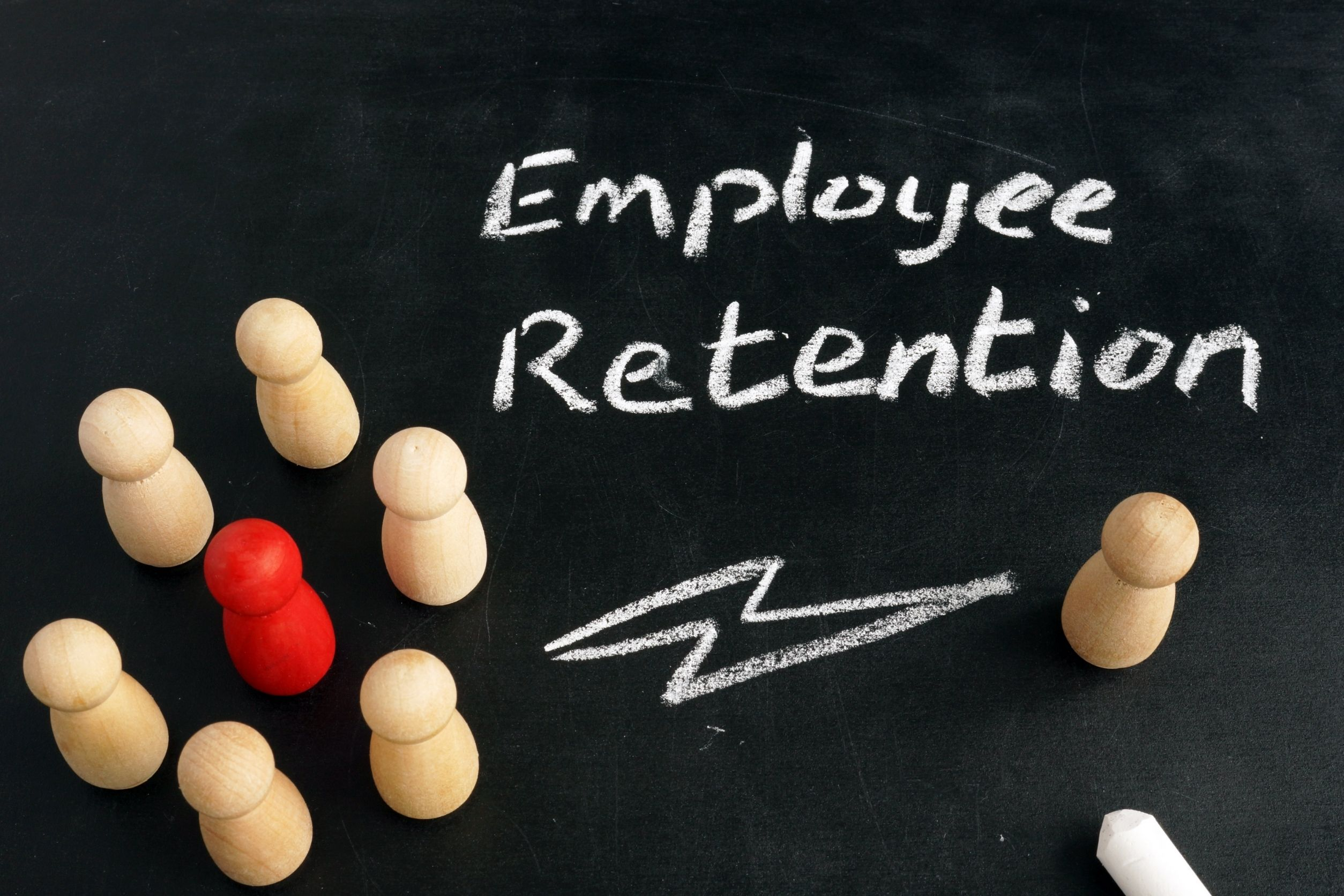 employee retention concept in chalkboard, employee retention is crucial for senior care franchise owners
